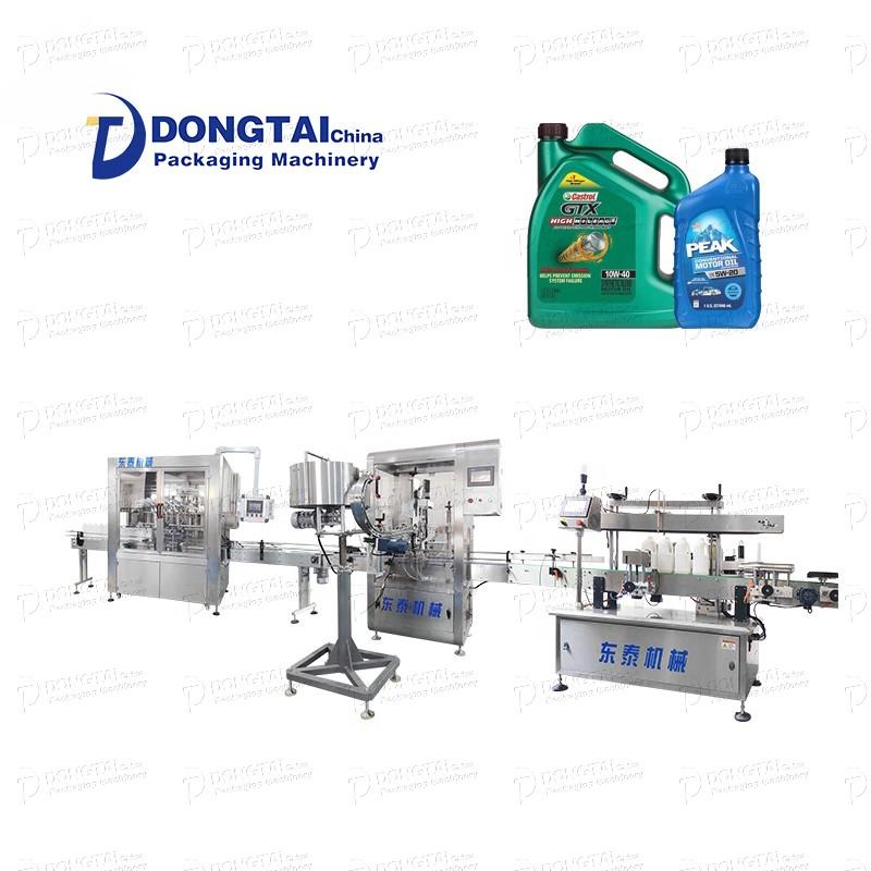Linha de enchimento de óleo do motor / máquina de enchimento de óleo automotivo máquina de enchimento de óleo