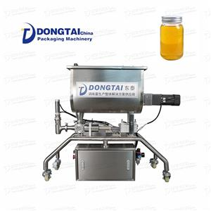 Granular sauce mixing and filling machine