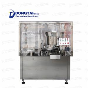 Automatic filling and capping machine for vials