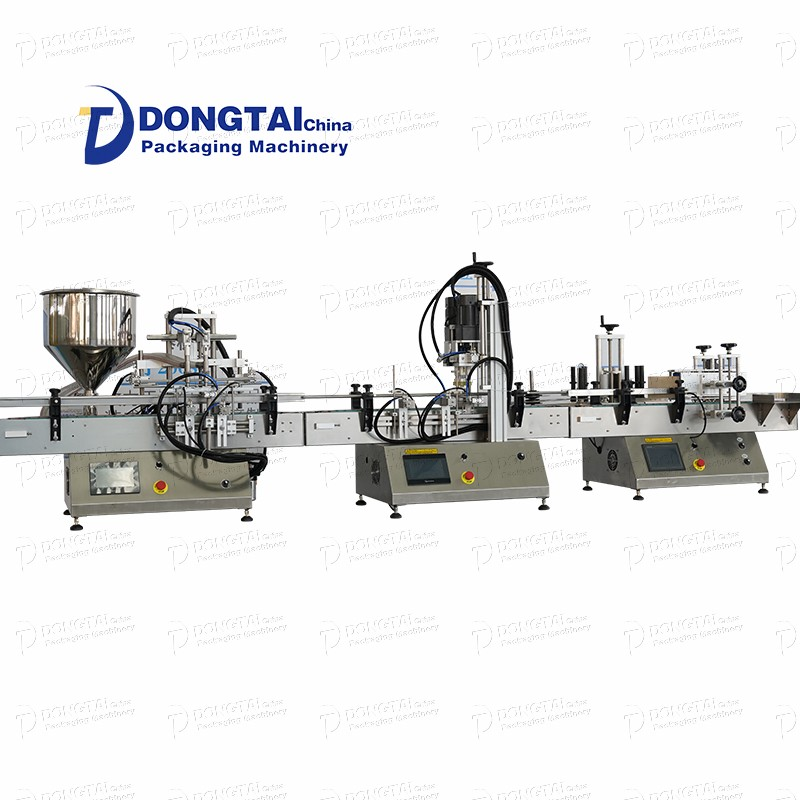 Desktop hand sanitizer gel filling production line