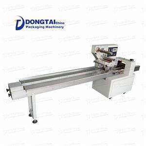 Yastık paketleme makinesi, bisküvi ürün paketlemesine yardımcı olmak için insansız üretim kullanıyor