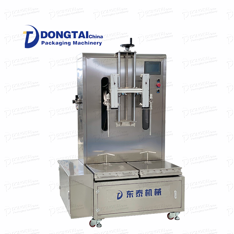 Como a máquina envasadora de líquidos semiautomática se destaca?