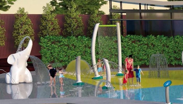 Water Splash Pad Spray Park Equipment