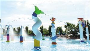 Fiberglass Aqua Splash Pad Water Spray Park Equipment