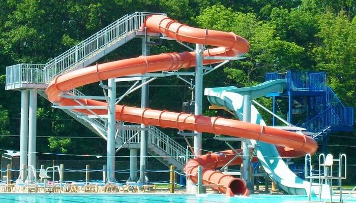 Water Pool Spiral Slide