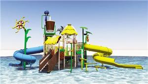 Outdoor Water Park Tube Slide