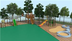 Kids Outdoor Climbing Playground Structure