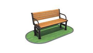 Outdoor Park Wpc Wood Garden Bench