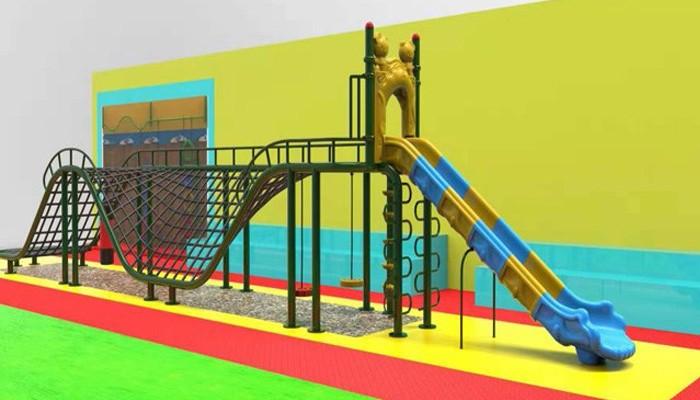 Swing Set With Plastic Slide