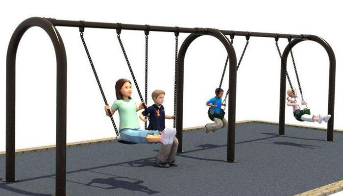 Plastic Slide With Outdoor Playground Swing Set