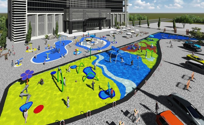 Chongqing The Yuehu Kids Water Splash Park Project Finished The Installation!