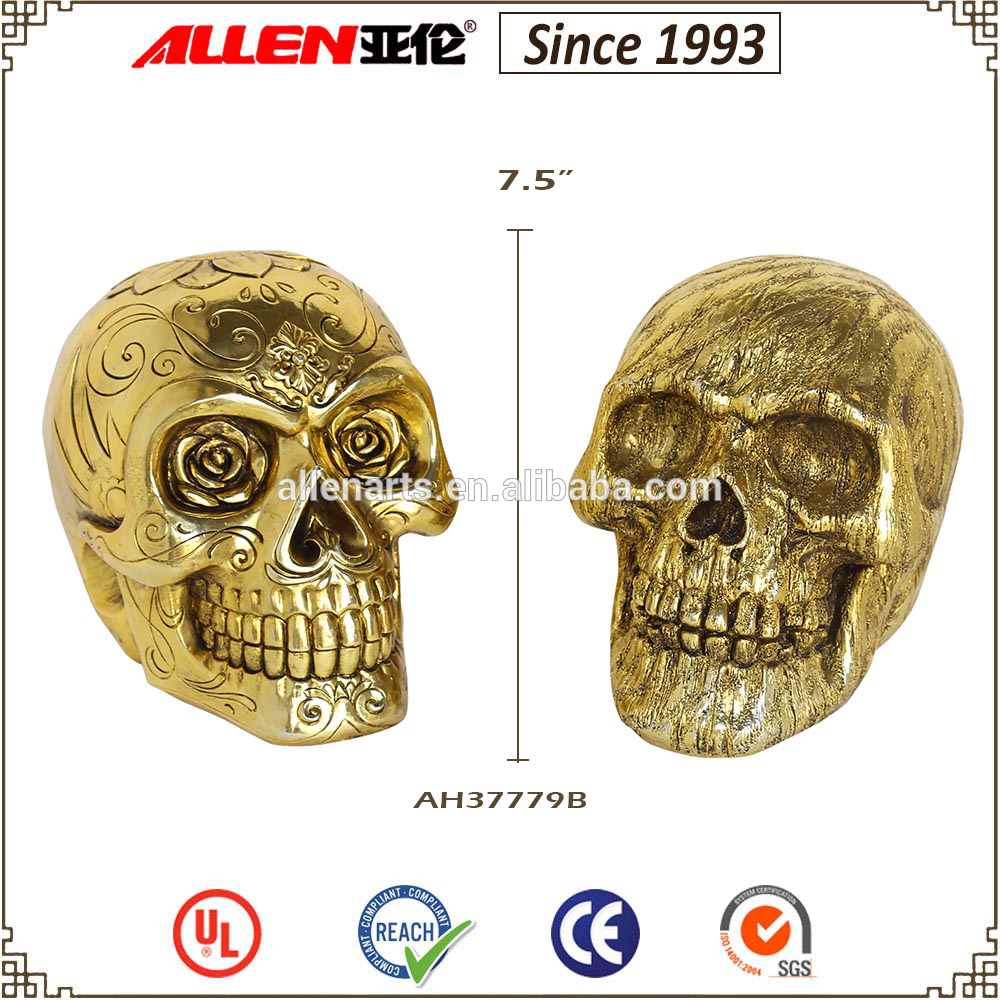 China halloween resin skull head