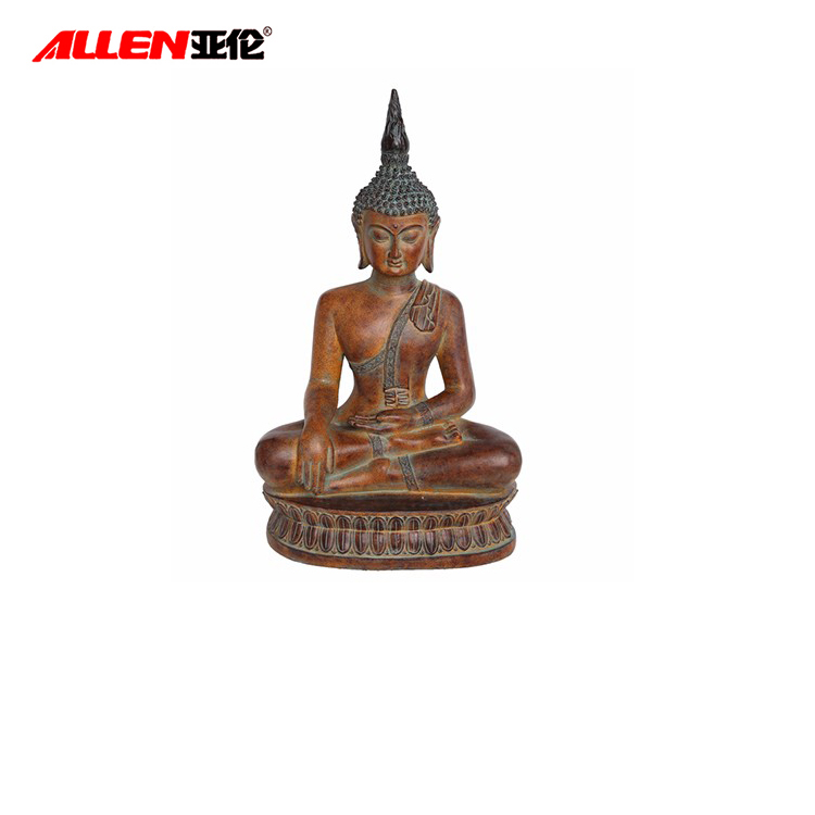 Polyresin Meditating Sitting Buddha Statue For Decoration