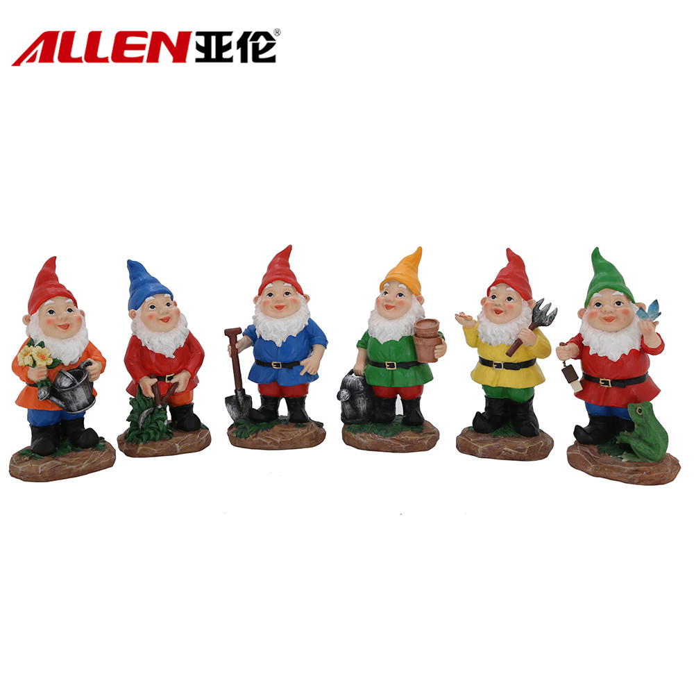 Europa Style Garde Decor 8.5inch Höjd Polyresin Working Gnome