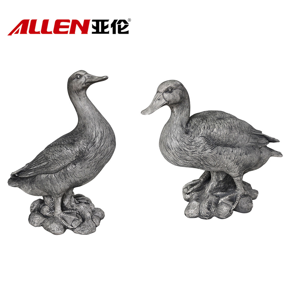 Animal artificial Duck Escultura Polyresin Para Garden Decor