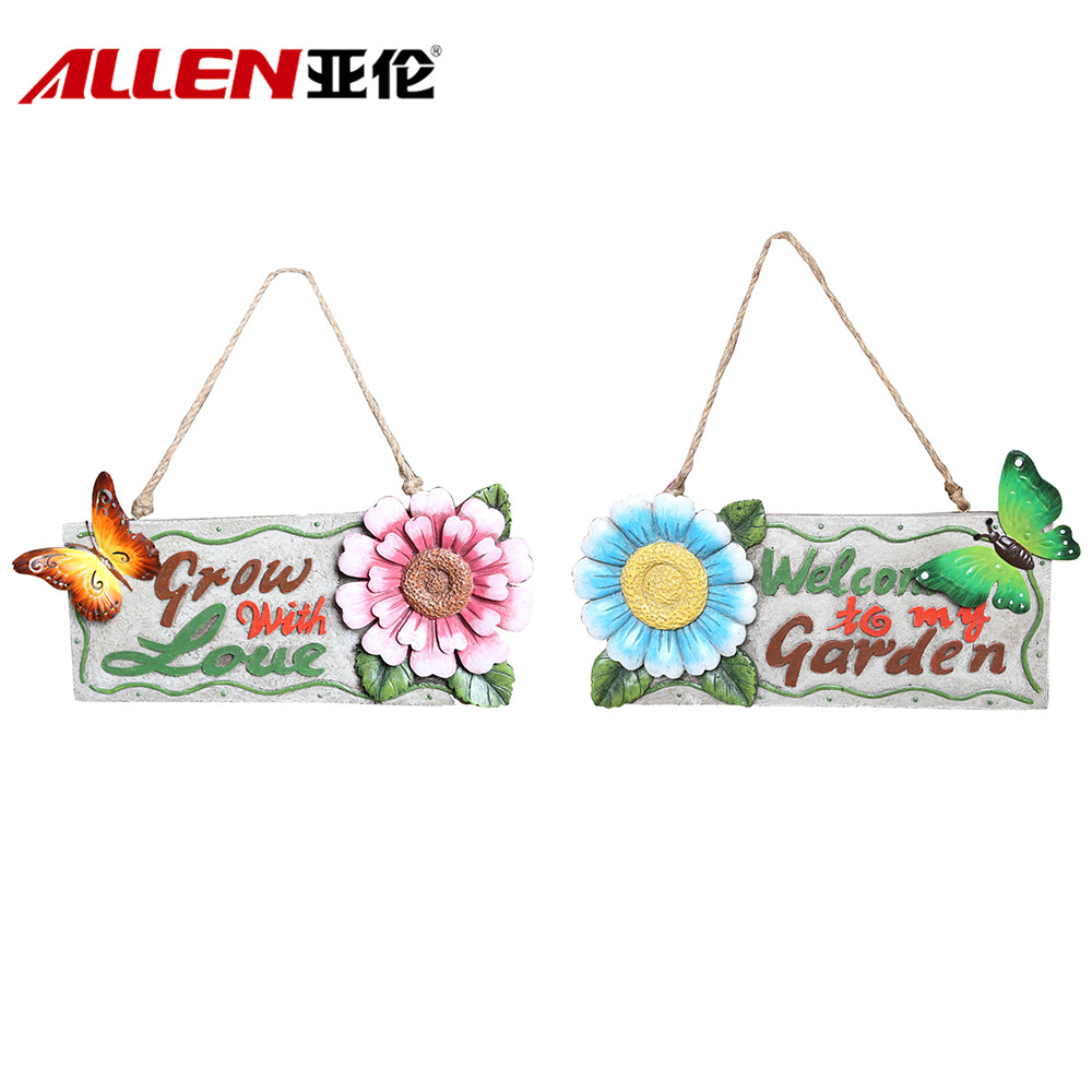 Polyresin Wall Hanging Sign Board For Garden Decoration
