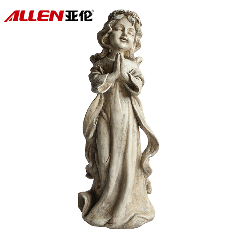 Home Garden Decoration Resin Life Size Praying Angel Statue