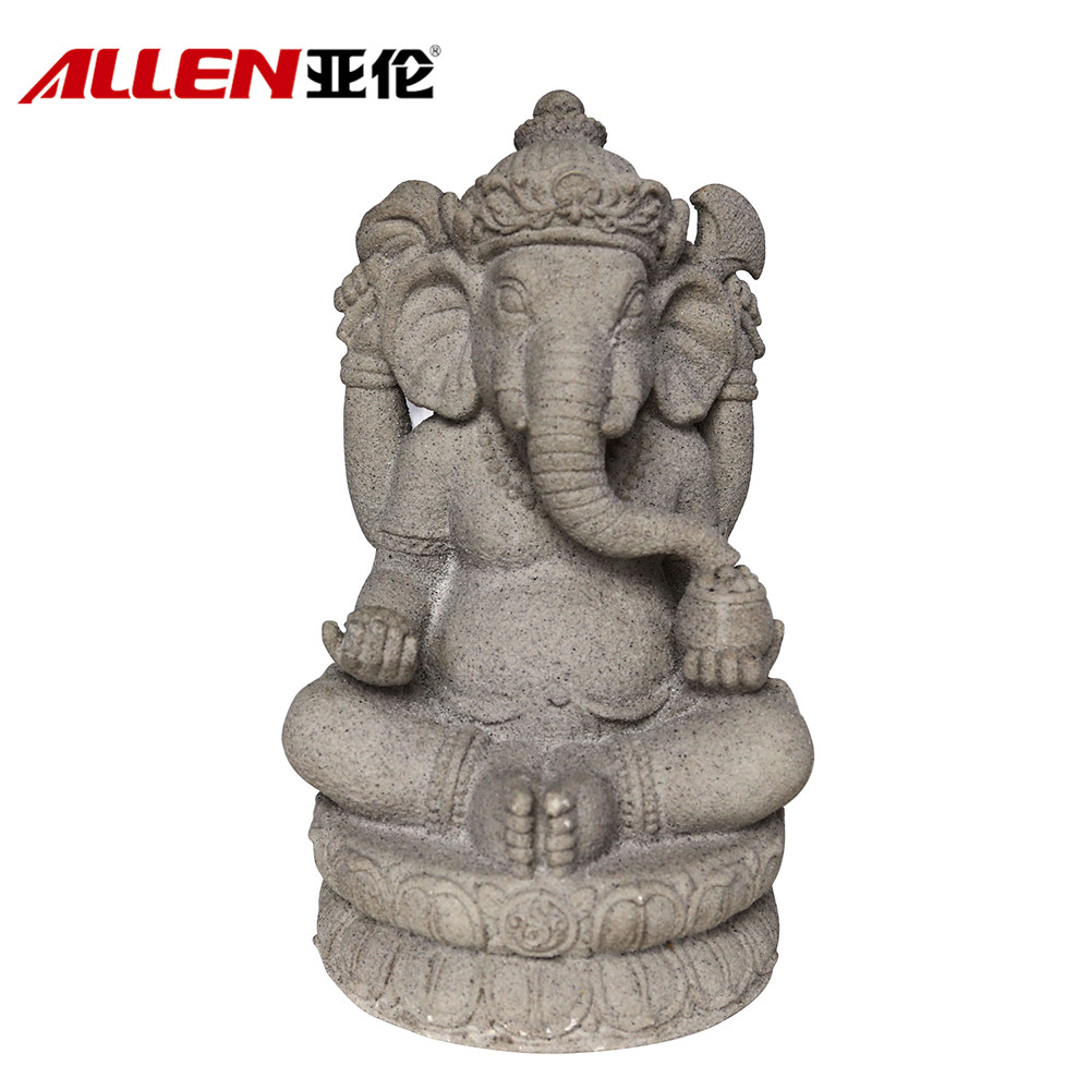Religious Home Decor Sitting Buddhas Resin Ganesh Statue