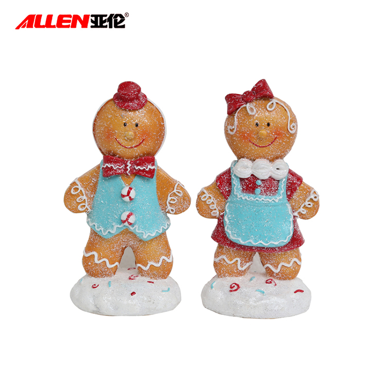 New 6.3inch Natal Resina Gingerbread Man Figurines