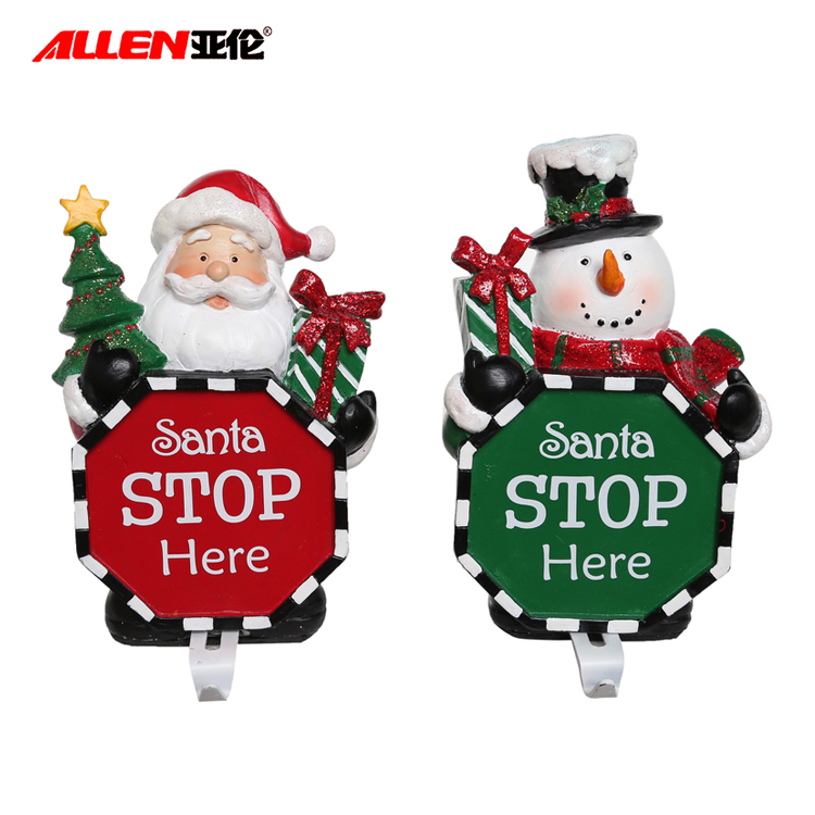 China resin family christmas ornaments