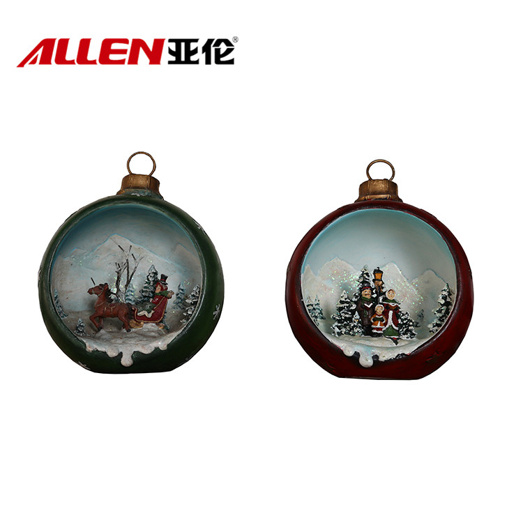 Christmas Decoration Resin Scene Ornaments