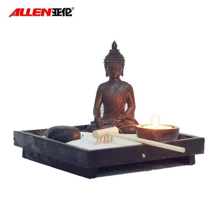 Personalizado Areia Mini Jardim Zen Com Estátua de Buda