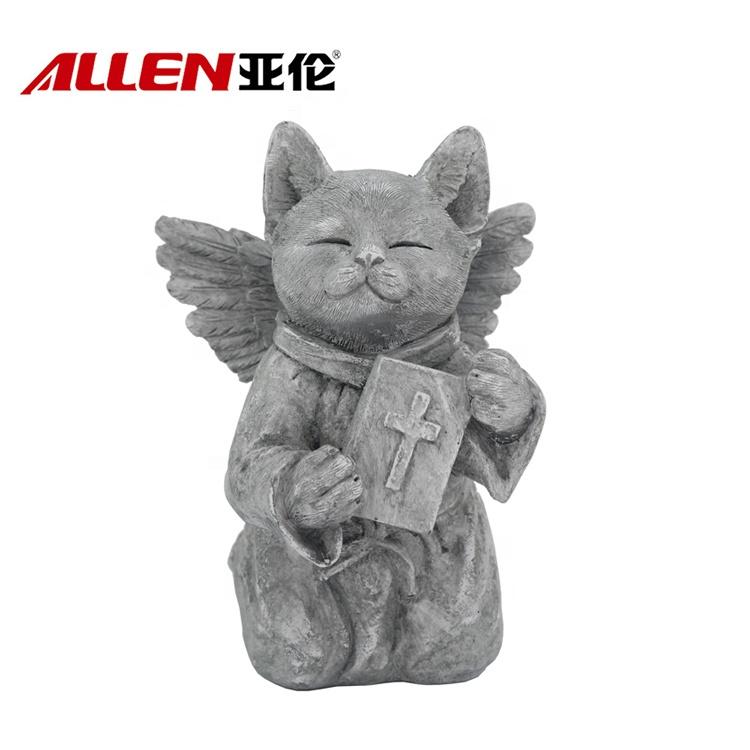 Сад Украшение Cat Скульптура Polyresin Молиться Cat Статуя