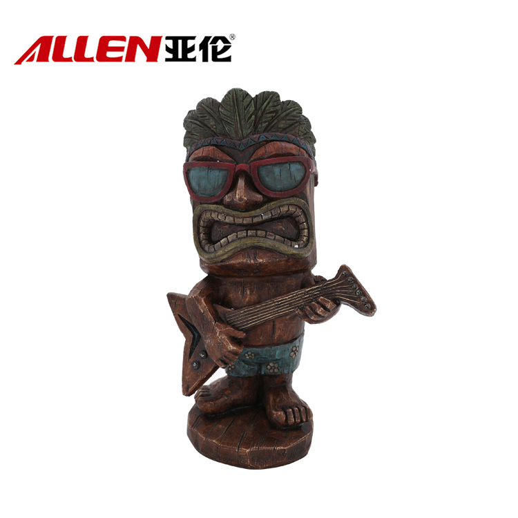 Hawaiian Estado Tiki Tiki Jardim Figurines Com Guita