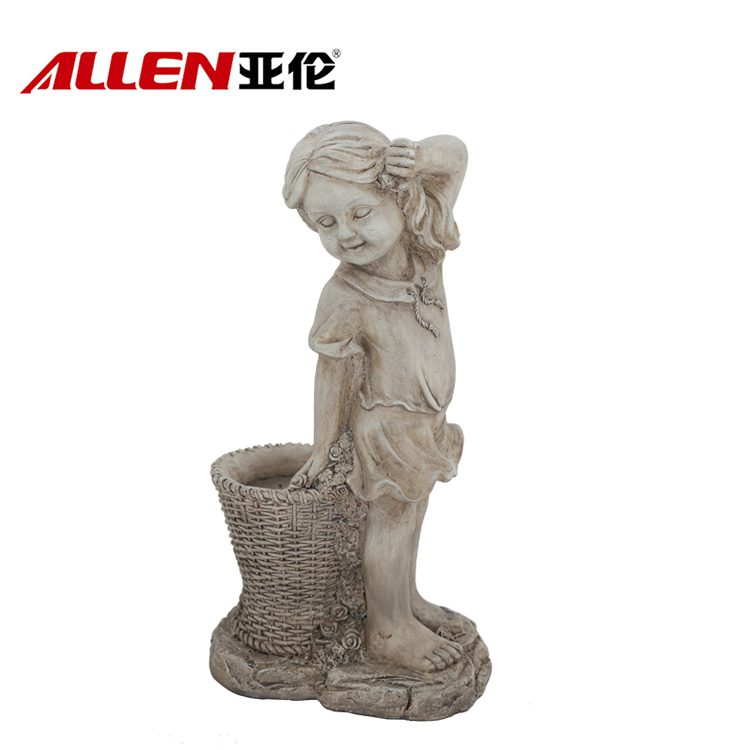 MGO Material Shy Girl Garden Statue Planter