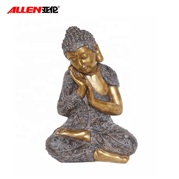 Gold Resin Buddha Statue For Home Garden Decoration