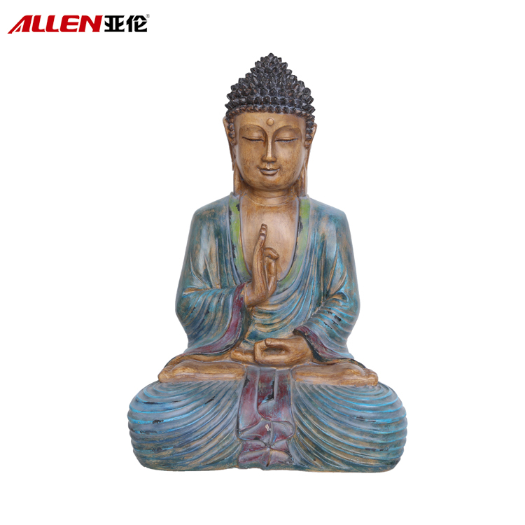 Custom Polyresin Sitting Buddha Statue For Home Decor