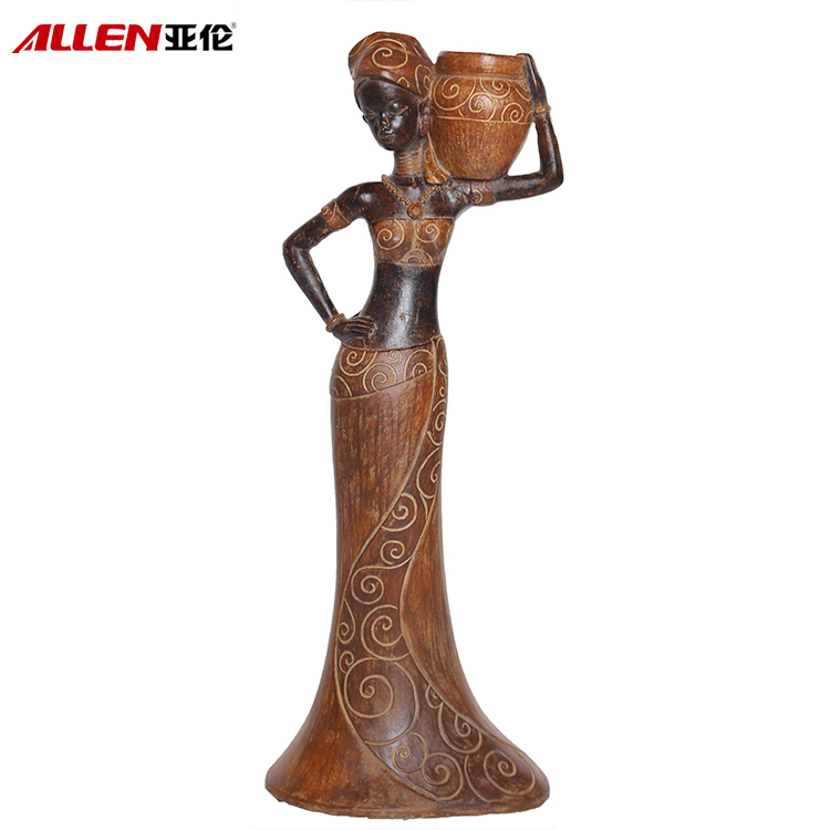 Aftrica Elegant Holding Pot Lady Figurines For Home Decoration