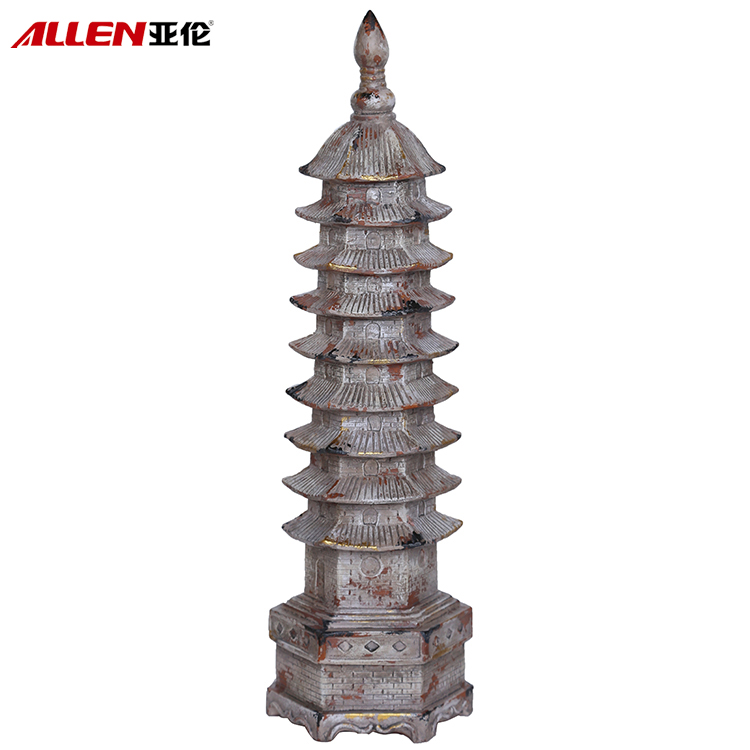 Home Decoration 19.6'H Resin Tower