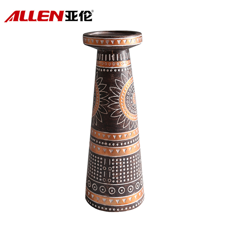 Africa Pattern Design Resin Candle Holder For Home Decor
