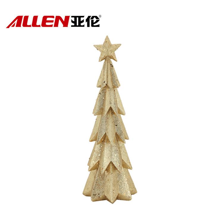Gold color christmas tree