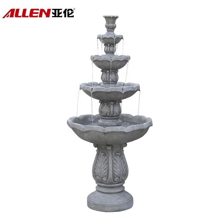 Oversize Outdoor Multi Tier Fiberglass Garden Water Fountain