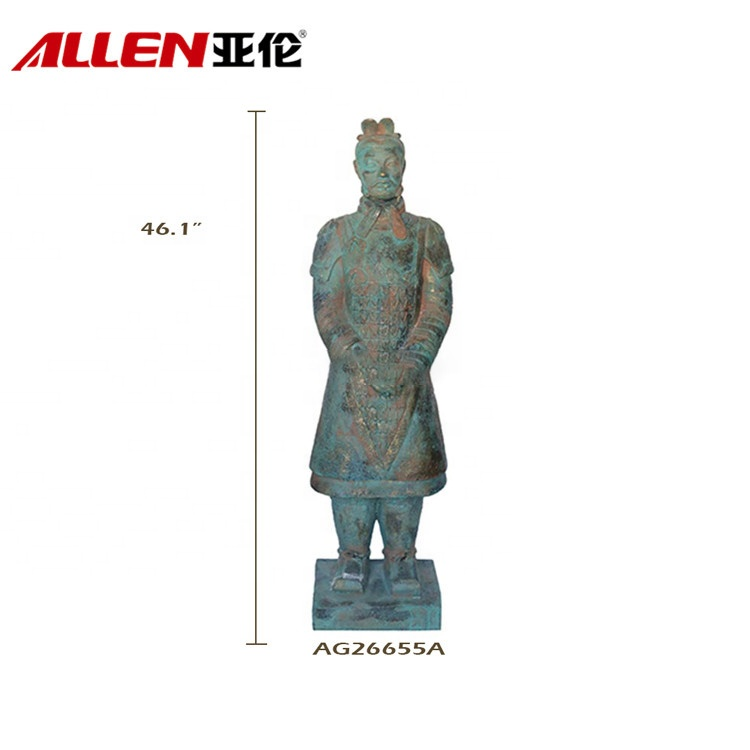 Garden Decor Fiberglass Chinese Terra-Cotta Warrior Statue
