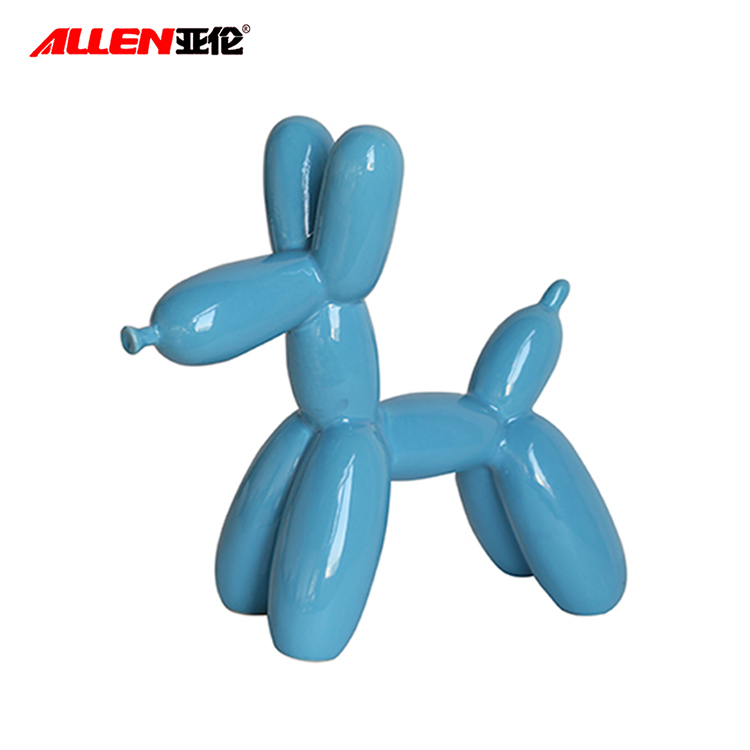 Nizza Ceramiche Scultura Koons Animal Balloon Dog per la decorazione