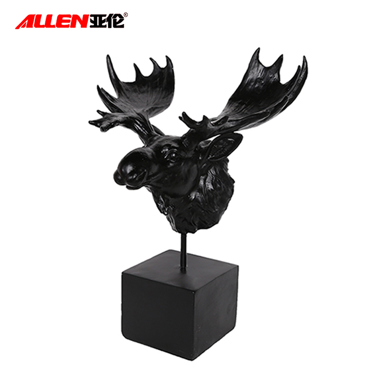 Polyresin Moose Head Statue For Home Decor