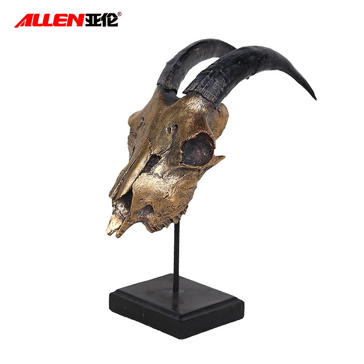 Resin Gold Antelope Head Wall Mount Faux Taxidermy