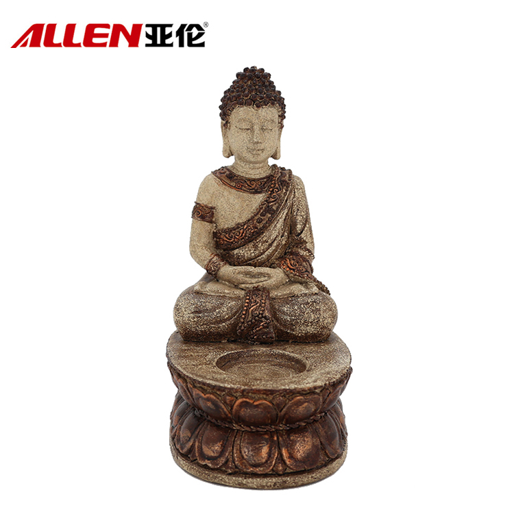 Buddhism Home Decoration Custom Resin Buddha Candle Holder