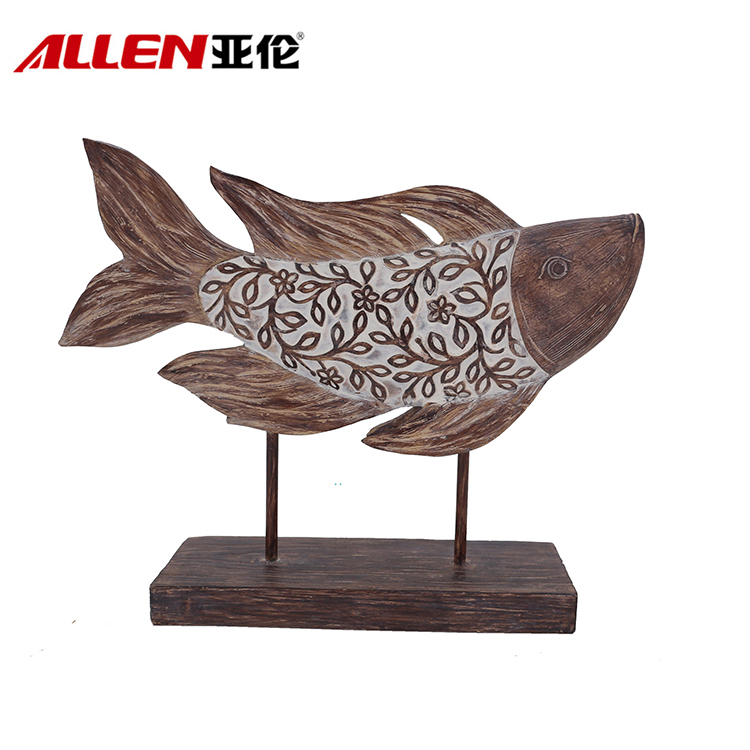 Home Decor Afrika Corak Design Resin Ikan Dengan Base