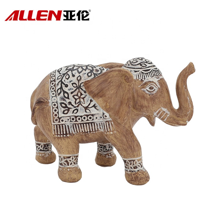 Customized Africa Design Antique Sculpture Resin Elephant Figurine