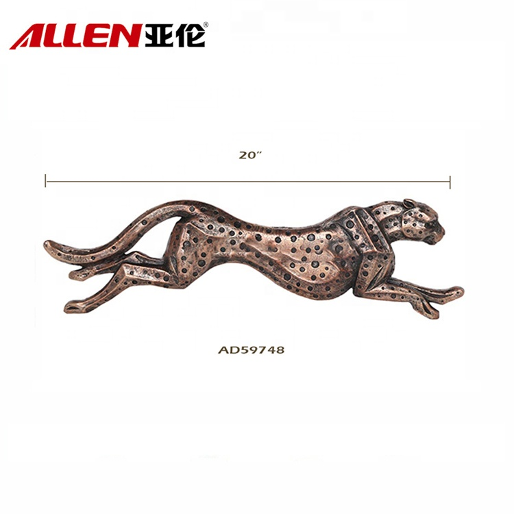 Running Design Resin Leopard Statue For Wall Decor