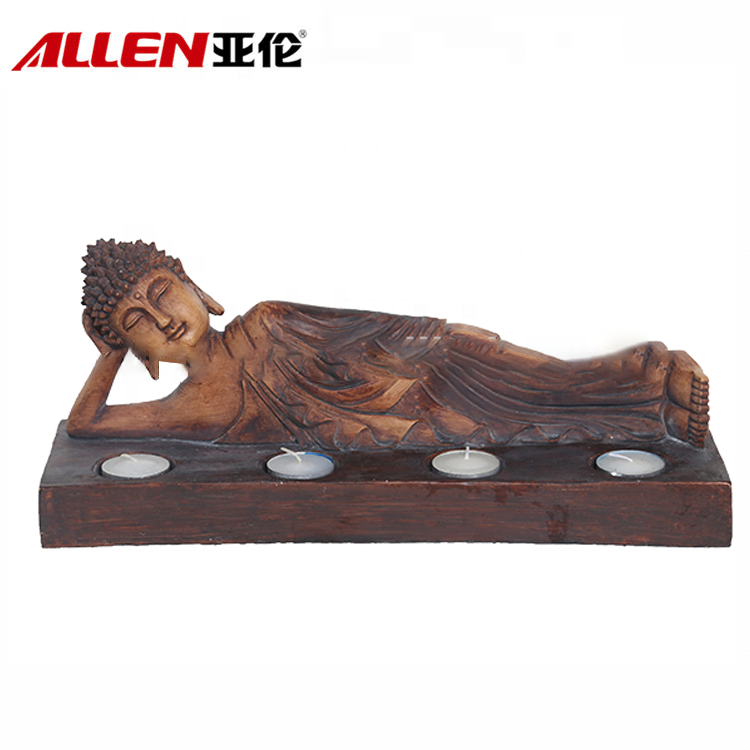 Custom Laying Buddha Statue Candle Holder For Decor