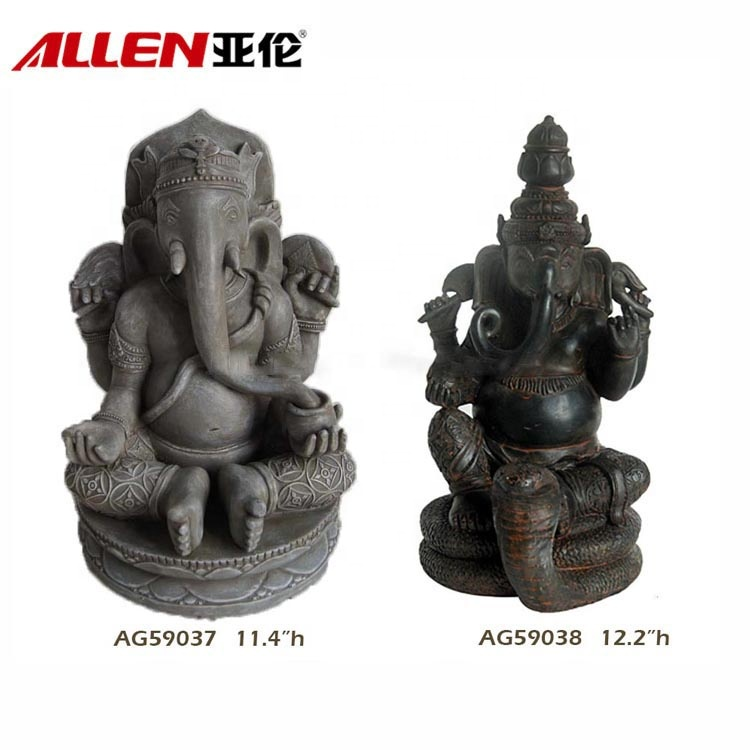 Antique Home Decor Resin Lord Ganesha Statue