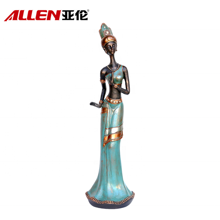 Home Office Decoration Resin Lady Statuary