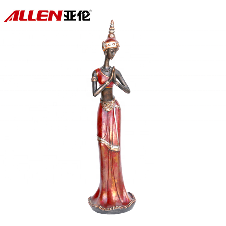 Tabletop-Dekoration-Harz-elegante Dame Figuren
