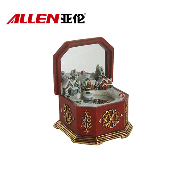 Luxury Winter Style Handmade Music Box With Rotating Skater