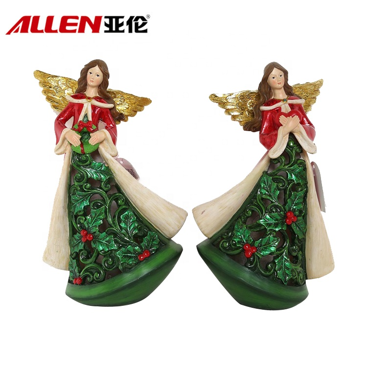 New Design disesuaikan Resin Krismas Angels patung
